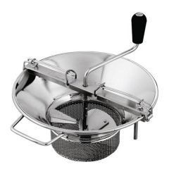 """Tellier M5 Moulin Grater Tinned Steel with 3mm Sieve 15"""" / 37cm"""