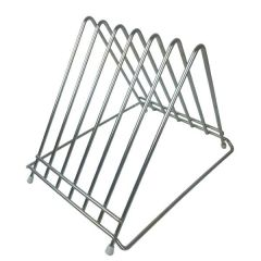 Stainless Steel 6 Slot Chopping Board Rack