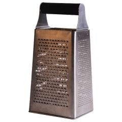 "Acid Etched Box Grater 4 Sided 9"" / 23cm"