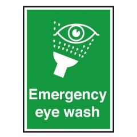 Emergency Eye Wash Sticker 15x10cm