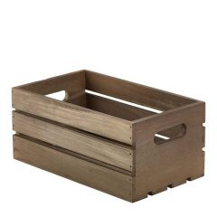 Dark Rustic Wooden Crate 270x160x120mm