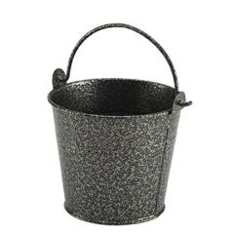 Hammered Silver Antique Finish Galvanised Steel Serving Bucket 17.5oz / 50cl