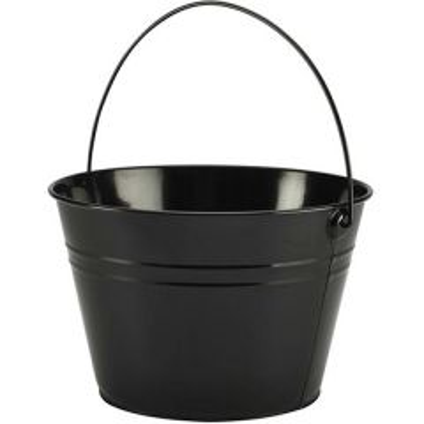 Black Finish Serving Bucket 211oz / 6Ltr
