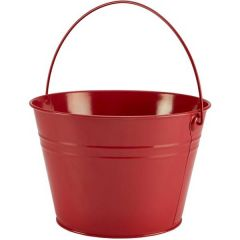 Red Finish Serving Bucket 211oz / 6Ltr