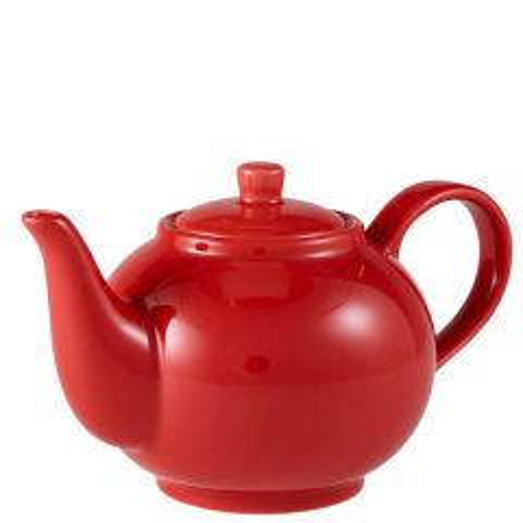 Royal Genware Red Teapot 30oz / 85cl