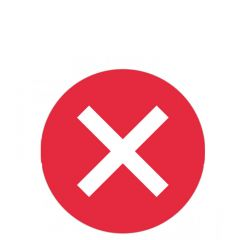 Social Distancing 'Cross Symbol' Seat Marker Sticker 120mm