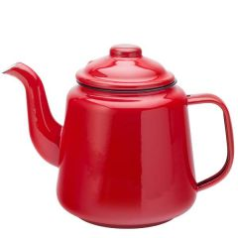 Red Enamel Teapot 1 Litre