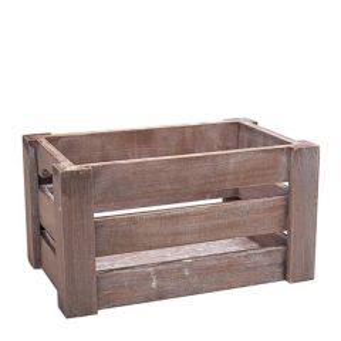 "Paulownia Wooden Crate 12.2x8.2x6.2"" / 31x21x16cm"