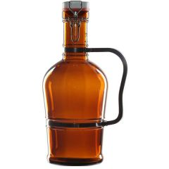 """Amber Glass Zeus Growler with Handle & Ceramic Stopper 15"""" / 38cm, 105oz / 3Ltr"""