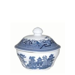 Churchill Willow Pattern Covered Georgian Sugar 5.7oz / 16cl