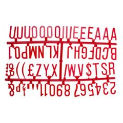 """Retro Style Peg Board Red Letter Set of Six Frames 1.25"""" / 3.2cm"""