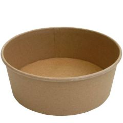 Disposable Kraft Salad / Food Bowl 46oz / 130cl