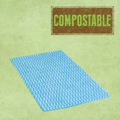 Compostable Envirowipe Blue Antibacterial Heavy Weight Cleaning Cloths 50x36cm