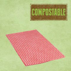 Compostable Envirowipe Red Antibacterial Heavy Weight Cleaning Cloths 50x36cm