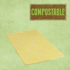 Compostable Envirowipe Yellow Antibacterial Heavy Weight Cleaning Cloths 50x36cm