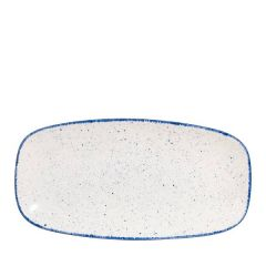 "Churchill Stonecast Hints Indigo Blue Oblong Plate No.3, 11.75x6"" / 29.8x15.3cm"