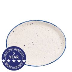 "Churchill Stonecast Hints Indigo Blue Oval Plate 10"" / 25.4cm"