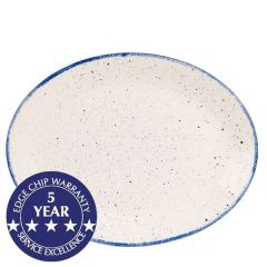 "Churchill Stonecast Hints Indigo Blue Oval Plate 12"" / 30.5cm"