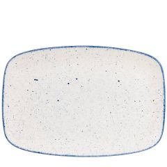 "Churchill Stonecast Hints Indigo Blue Oblong Platter No.9, 13.875x9.625"" / 35.5x24.5cm"