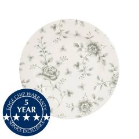 "Churchill Vintage Prints Grey Rose Chintz Tea Plate 6.625"" / 17cm"