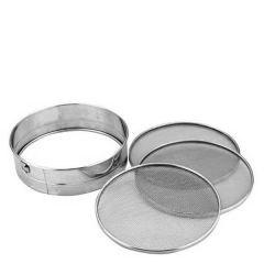 """Cooks' Tamis Sieve with 3 Meshes 12"""" / 30cm"""