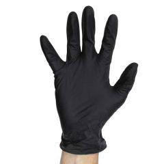 Black Nitrile Powder Free Gloves Large