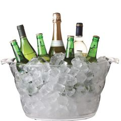 Clear Acrylic Bottle Cooler up to 6 Wine Bottles