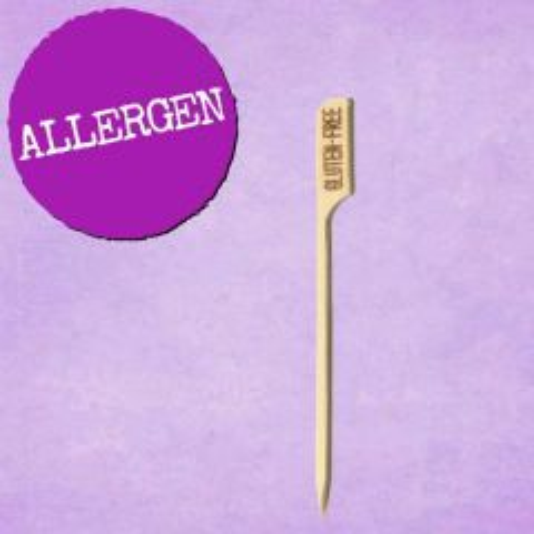 """Gluten Free Bamboo Gun-Shaped Paddle Skewer 3.5"""" / 9cm"""