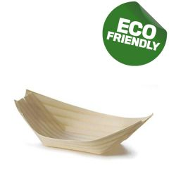 Disposable Wooden Bamboo Boat 12x5cm