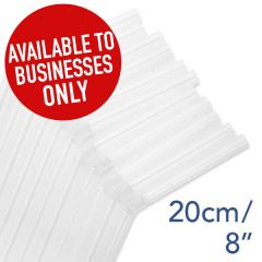 "Clear Bendy Straw 6mm Bore 8"" / 20cm"