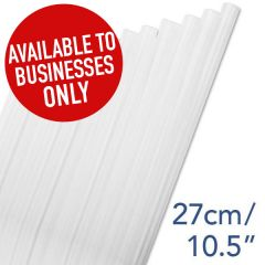"Clear Straight Alcopop Straw 6mm Bore 10.5"" / 27cm"