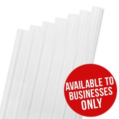 "PLA Natural White Smoothie Straw 9mm Bore 8"" / 20cm"