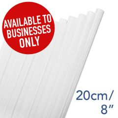 "Clear Straight Jumbo Straw 6mm Bore 8"" / 20cm"