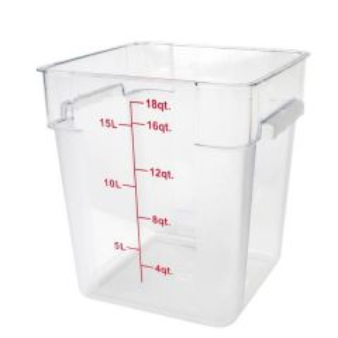 Polycarbonate Large Square Food Storage Container 17.2Ltr / 18qt
