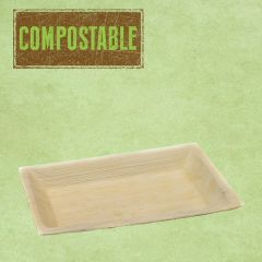 "Palm Leaf Compostable Rectangular Plate 9.5x6.5"" / 24x16cm"