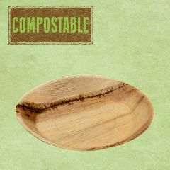 "Palm Leaf Compostable Round Plate 9.5"" / 24cm"