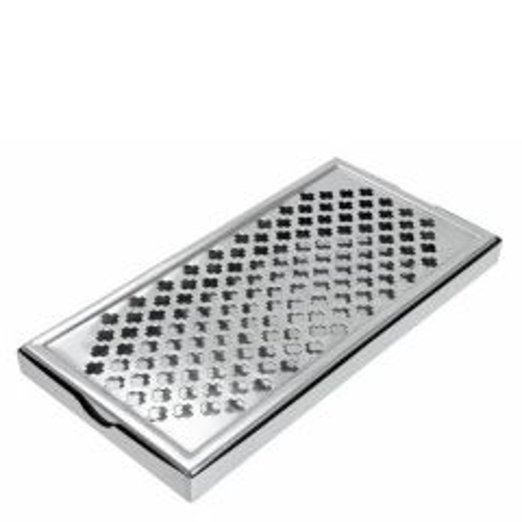 "Stainless Steel Thimble Measure Driptray 12x6"" / 30x15cm"