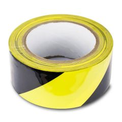 Black & Yellow Stripe Caution Adhesive Tape 50mm x 33m