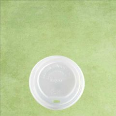 CPLA Compostable White Lid to Fit 8oz / 22cl Hot Cup