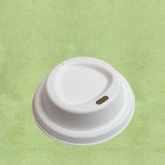 "Bagasse Lid for 8oz / 22cl Hot Cup 3.1"" / 8cm"