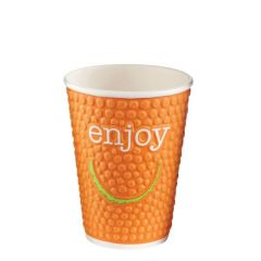 Enjoy Bubble Embossed Double Wall Hot Cup 12oz / 34cl (Mixed Colours)