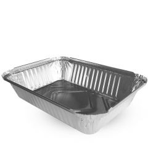 Aluminium Foil Takeaway Container 225x150x43mm 1Ltr