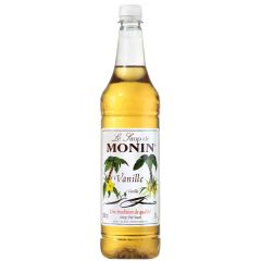 Monin Syrup Vanilla 1Ltr Plastic Bottle