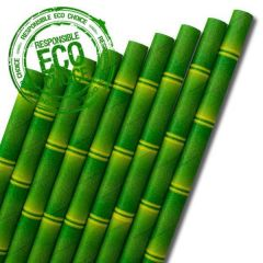 "Bamboo Paper Straw 6mm Bore 8"" / 20cm"