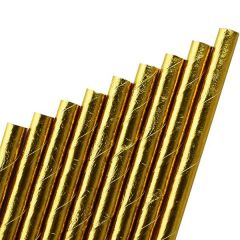 "Gold Paper Straw 6mm Bore 8"" / 20cm"
