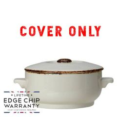 Steelite Brown Dapple Cover For Soup Bowl 15oz / 42.5cl