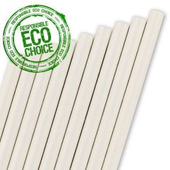 "White Paper Straw 6mm Bore 8"" / 20cm"