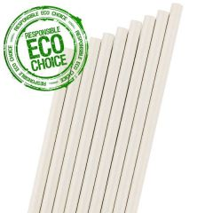 "White Paper Sip Straw 6mm Bore 5.5"" / 14cm"