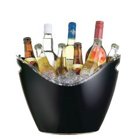 Black Acrylic Bottle Cooler up to 6 Wine Bottles