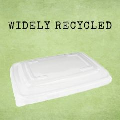 Sabert Recyclable Clear Lid for 600 & 950ml BePulp Rectangular Container